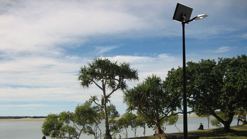 Solar lights for open spaces