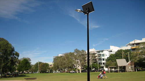 Solar lights for recreation and parks